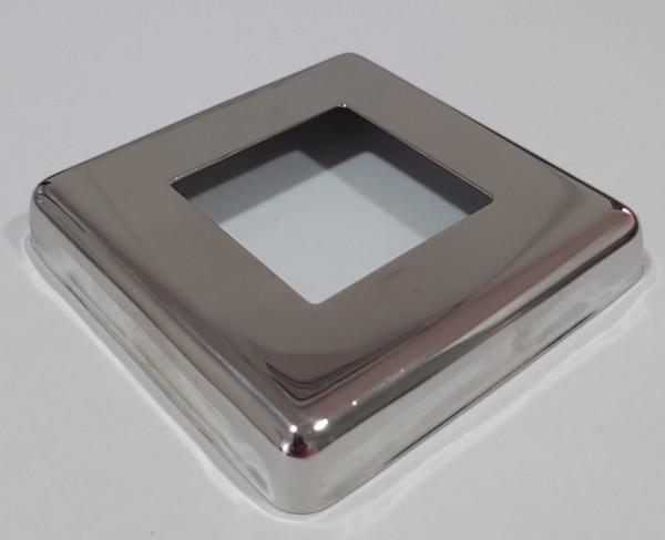Canopla Quadrada Inox 304 - 41x41mm